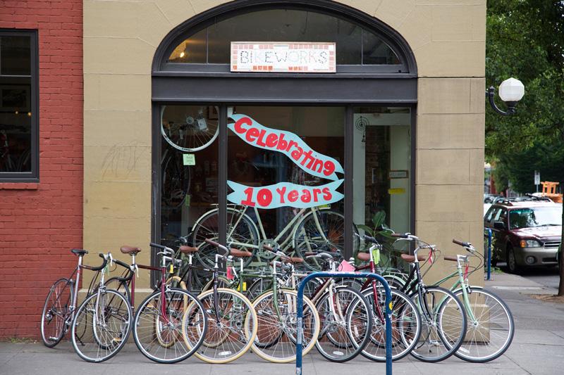 ポートランドの自転車